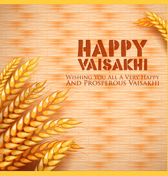 happy vaisakhi punjabi spring harvest festival of vector image