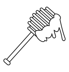Honey spoon icon outline style vector