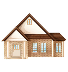 house builded with brick stones vector image