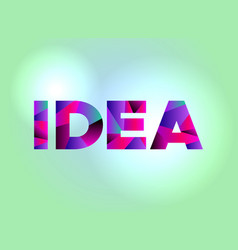 idea concept colorful word art vector image
