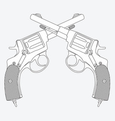 Image of the revolver vector