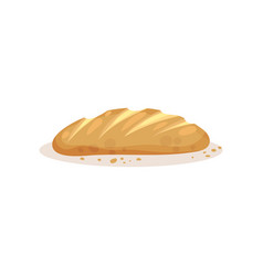 loaf bread bakery pastry fresh product vector image