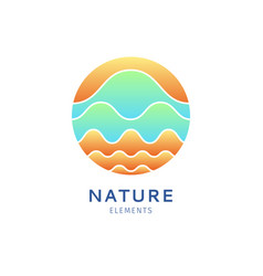 logo color waves vector image