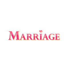 marriage style pink signboard for wedding web vector image