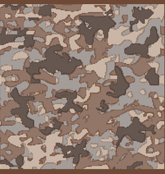 Military camouflage pattern on the fabric vector