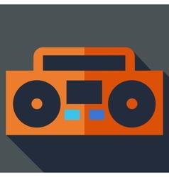 Modern flat design concept icon Boom box tape vector image vector image