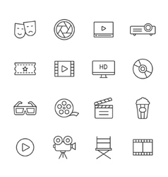 Movie Line Icons vector