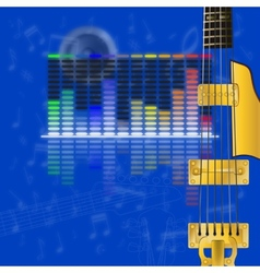 musical design equalizer and guitar strings vector image