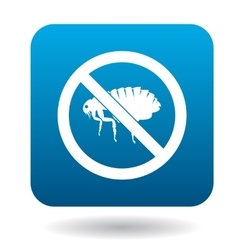 No flea sign icon simple style vector image