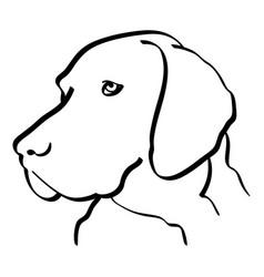 Pointer dog vector
