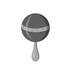 Rattle icon black monochrome style vector image