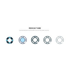Rescue tube icon in different style two colored vector
