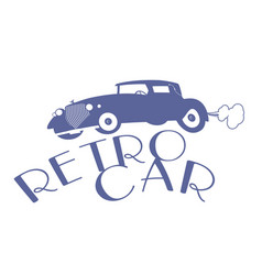 Retro style emblem representing a typical car vector