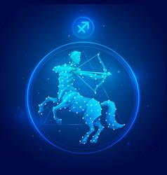 Sagittarius sign icons vector