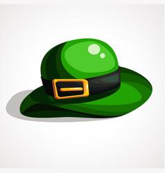 saint patrick s day leprechaun green hat vector image