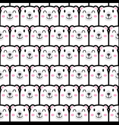 seamless cute bear pattern vector image