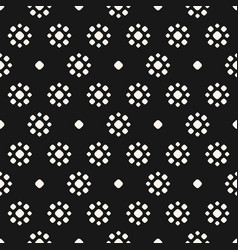 seamless pattern with flower shapes circles dots vector image