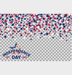 Seamless pattern with stars for 4th july vector