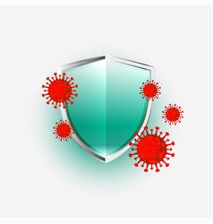 Shield protecting novel coronavirus covid-19 vector