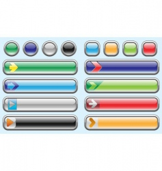 shiny internet buttons set 3 vector image