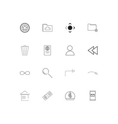 signs and symbols simple linear icons set vector image