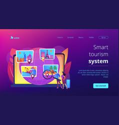 smart tourism system concept landing page vector image