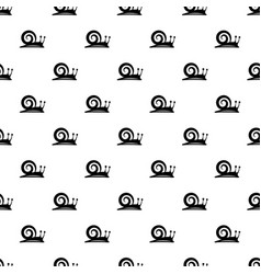 snail pattern seamless vector image