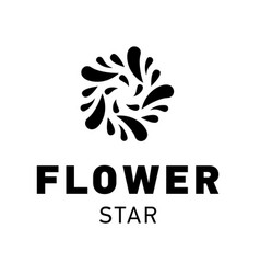 star logo design flower symbol graphic vector image vector image