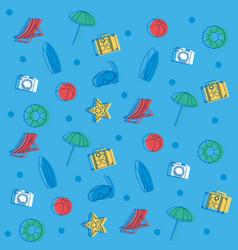 summer wallpaper pattern vector image
