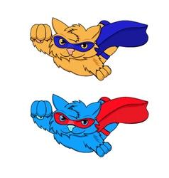 SUPER-CAT blue red vector