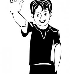 Teen boy vector