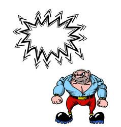 tough man 100 vector image