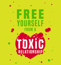 Toxic relationships image vector