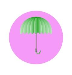 umbrella light green in circle vector image