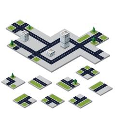 urban elements vector image
