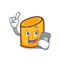 with phone rigatoni character cartoon style vector image