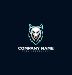wolf design template vector image