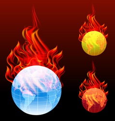 world burn vector image