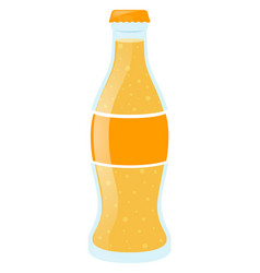 Yellow soda in bottle vector