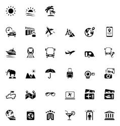 33 black travel icons 01 vector