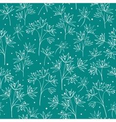 Beautiful beige line flowers vector image vector image
