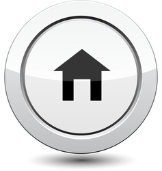 Button with House Icon vector image