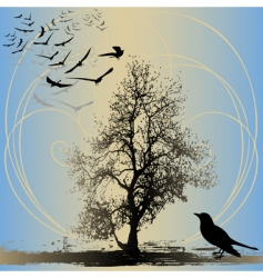 home to roost vector image vector image