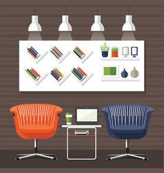 Modern interior room vector