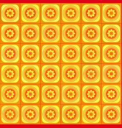orange geometric seamless pattern vector image vector image