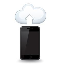 Smart Phone Cloud vector image vector image