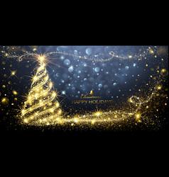 Christmas Magic Tree vector image