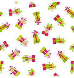 seamless pattern of gift box background vector image