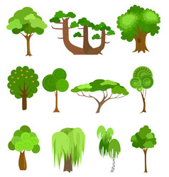 trees icons Simple cartoon vector image