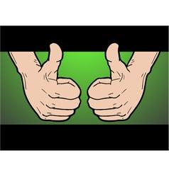 winner hand pose vector image vector image